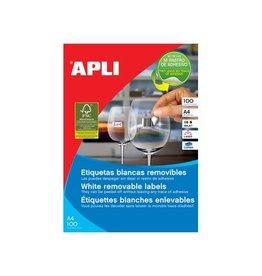 Apli Apli afneembare witte etiketten ft 48,5 x 25,4 mm (b x h), 4