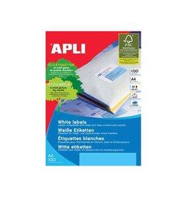 Apli Apli Witte etiketten 99,1x67,7mm(bxh),800st,8 per blad(2420)
