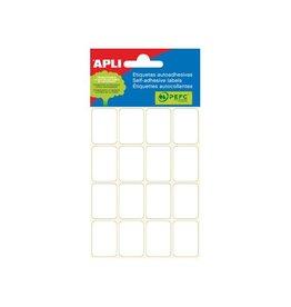 Apli Apli witte etiketten ft 19 x 27 mm (b x h), 96 stuks [10st]