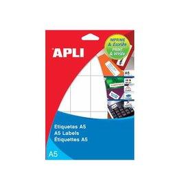 Apli Apli witte etiketten Print & Write ft 34 x 53 mm (b x h), 18