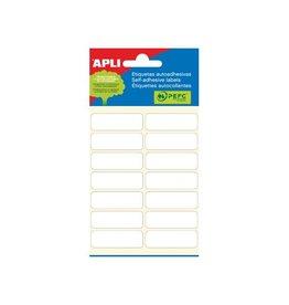 Apli Apli witte etiketten ft 13 x 40 mm (b x h), 84 stuks [10st]