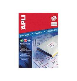 Apli Apli witte etiketten 70x16,9mm(bxh),5100st,51 per blad(1294)