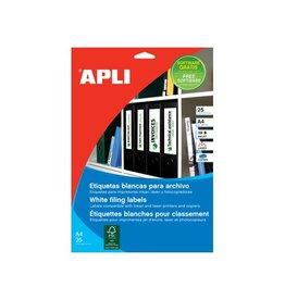 Apli Apli etiketten 190x61mm, ronde hoeken, 100st, 4 per bl(1233)