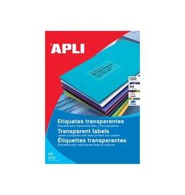 Apli Aplitranspe etiketten 210x297mm, 20st, 1 per bl, doos 20 bl