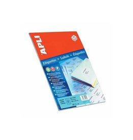 Apli Apli etiketten 105x37mm, rechte hoeken, 400st, 16 per bl