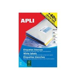Apli Apli etiketten 70x37mm, rechte hoeken 600st, 24 per bl(1212)