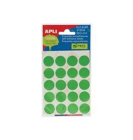 Apli Apli ronde etik. in etui diameter 19 mm, groen, 100st, 20/bl