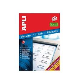 Apli Apli witte etiketten 210x297mm (bxh),250st,1 per blad (2530)