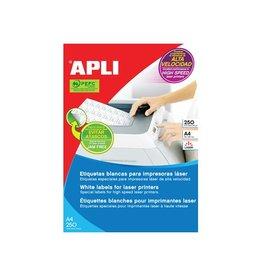 Apli Apli witte etiketten 70x35mm(bxh),6.000st,24 per blad(2519)