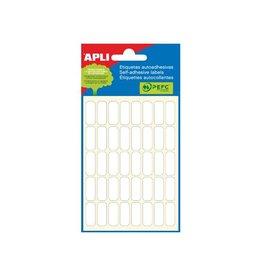 Apli Apli witte etiketten ft 8 x 20 mm (b x h), 240 stuks, 40 per