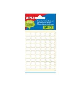 Apli Apli witte etiketten ft 8 x 12 mm (b x h), 360 stuks [10st]