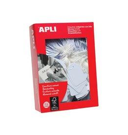 Apli Apli draadetiketten ft 50 x 70 mm (b x h) (396), doos van 40