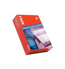Apli Apli etik. op kettingpapier 1 rij 88,9x36mm 4000st, 114,3mm