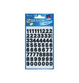Avery Zweckform Avery Etiketten cijfers en letters 0-9, 2 blad, zwart [10st]