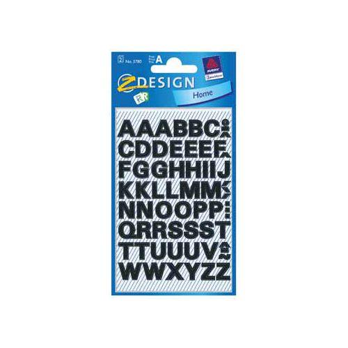 Avery Zweckform Avery Etiketten cijfers en letters A-Z, 2 blad, zwart [10st]