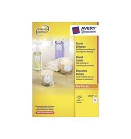 Avery Zweckform Avery Ronde etiketten diameter 40 mm, wit, 2.400 stuks