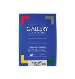 Gallery Gallery witte etiketten ft 99,1 x 33,9 mm (b x h), ronde hoe