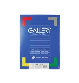Gallery Gallery witte etiketten ft 66 x 72 mm (b x h), ronde hoeken,