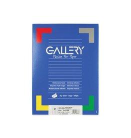 Gallery Gallery witte etiketten ft 66 x 38,1 mm (b x h), ronde hoeke