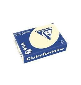 Clairefontaine Papier Clairefontaine Trophée Pastel A4 crème, 210 g, 250 vel