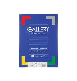 Gallery Gallery witte etik. 70x38 mm rechte hoeken, 2.100 etik.