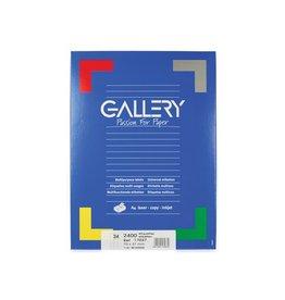 Gallery Gallery witte etiketten ft 70 x 37 mm (b x h), rechte hoeken