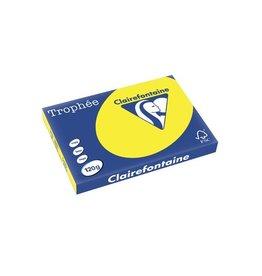 Clairefontaine Papier Clairefontaine Trophée Intens A3 zonnegeel, 120 g, 250 vel