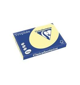 Clairefontaine Papier Clairefontaine Trophée Pastel A3 geel, 120 g, 250 vel