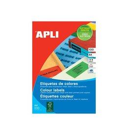 Apli Apli Gekleurde etik. 105x37mm geel 1600st, 16 per bl, 100 bl