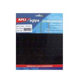 Agipa Agipa etiketten cijfers en letters letterhoogte 20 mm, 184 l