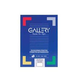 Gallery Gallery witte etik. 210x297 mm rechte hoeken, 100 etik.