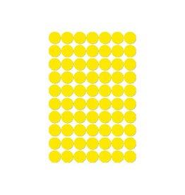 Apli Apli ronde etiketten in etui diameter 19 mm, geel [10st]