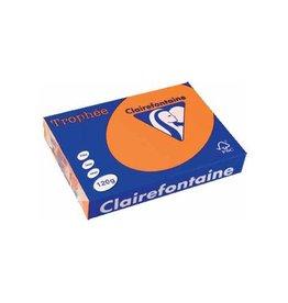 Clairefontaine Papier Clairefontaine Trophée Pastel A4 oranje, 120 g, 250 vel