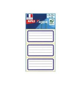 Agipa Agipa schooletiketten ft 75 x 34 mm (b x h), 24 etiketten pe