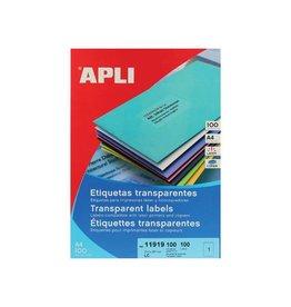 Apli Apli Transparante etiketten ft 210 x 297 mm (b x h), 100 stu