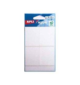 Agipa Agipa witte etiketten in etui 38x50mm (bxh),28st,4 per blad