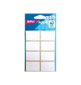 Agipa Agipa witte etiketten in etui 24x35mm (bxh),56st,8 per blad