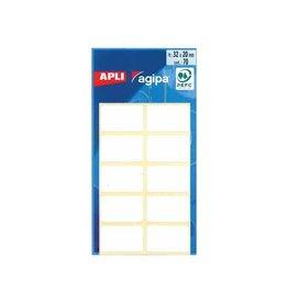 Agipa Agipa witte etiketten in etui ft 20 x 32 mm (b x h), 70 stuk