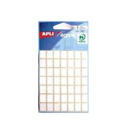 Agipa Agipa witte etiketten in etui 9x13mm (bxh),343st,49 per blad