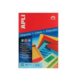 Apli Apli Gekleurde etiketten 210x297mm blauw 100st 1per bl
