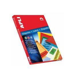 Apli Apli Gekleurde etiketten 70x37mm, blauw, 2.400st, 24 per bl