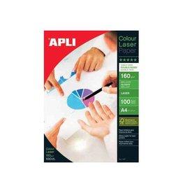 Apli Papier Apli Colour Laser A4 160gr Wit Glossy 100vel