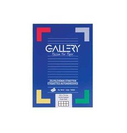 Gallery Gallery witte etiketten Ft 105 x 74 mm (b x h), rechte hoeke