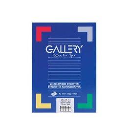 Gallery Gallery witte etiketten ft 105 x 35 mm (b x h), rechte hoeke