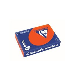 Clairefontaine Papier Clairefontaine Trophée Intens A4 kardinaalrood, 160g 250 vel