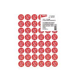 Apli Agipa Kortinglabel -50%, rood, pak van 192 stuks [10st]