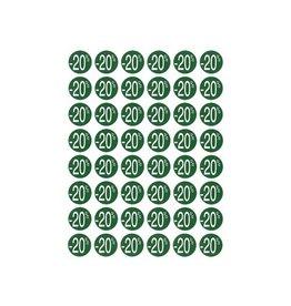 Apli Agipa Kortinglabel -20%, groen, pak van 192 stuks [10st]