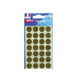 Agipa Agipa ronde etiketten in etui diameter 15 mm, goud