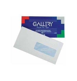 Gallery Gallery enveloppen 114x229mm met venster rechts gegomd 50st