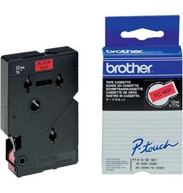 Brother Lettertape BROTHER p-touch tc401 12mm ro